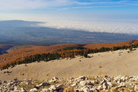 vaucluse: View from the  Mount Ventoux, Vaucluse, France Stock Photo
