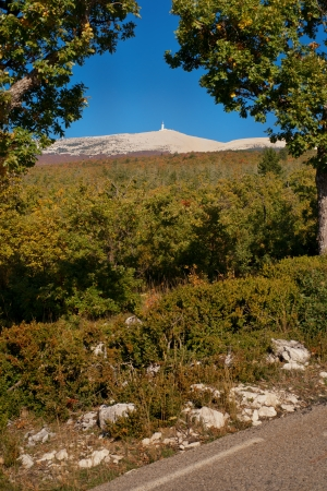The road of Bedoin, climbing Mount Ventoux, Vaucluse, France photo