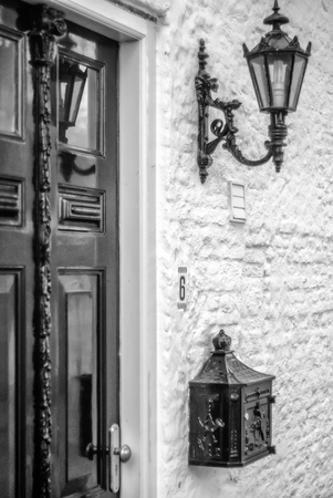 Antique door in classic setting photo