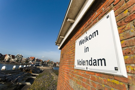 volendam: the port of Volendam  Netherlands