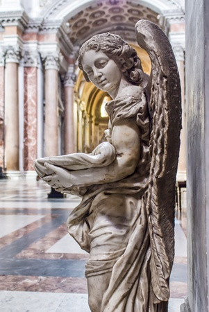 angel font in church photo