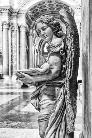 angel font in church photo