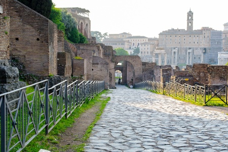 palatine: Ancient Roman ruins of the Imperial Palace, at Palatine Hill, Rome, Italy Stock Photo
