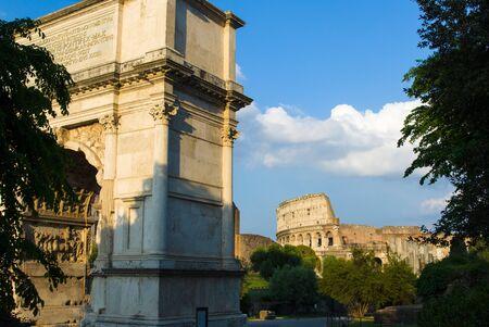 Arch of Titus on the Via Sacra, Rome, Italy photo