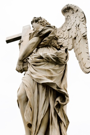 Angel with the cross  Ponte Sant Stock Photo