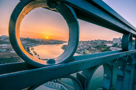 western slope: Dom Luis 1 Bridge in Porto, Portugal