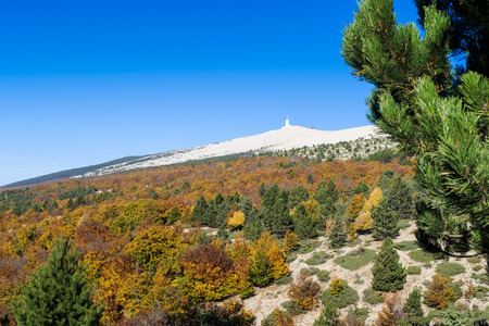 View from the Mount Ventoux, Vaucluse, France 免版税图像 - 28561775