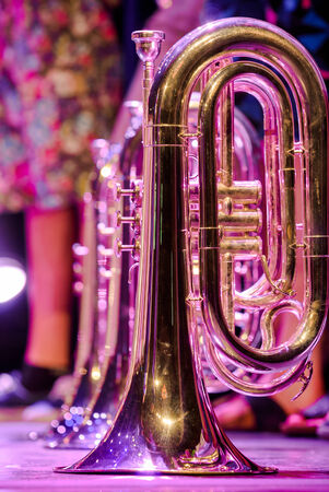 Details from a showband, fanfare our drumband 免版税图像 - 30358071