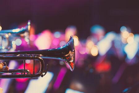 Details van een showband, fanfare onze drumband