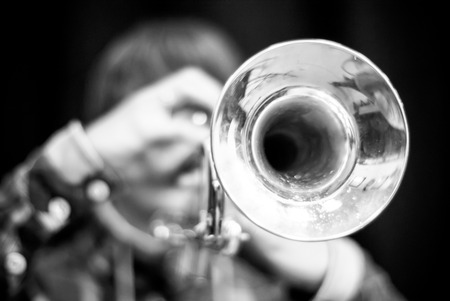 fanfare: Details from a showband, fanfare our drumband