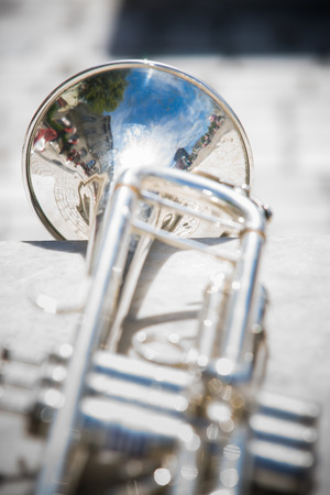 fanfare: Details from a showband, fanfare our drumband with Instruments