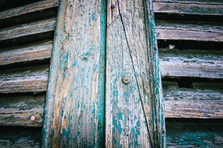 old painted doors shutters, crunchy uban look