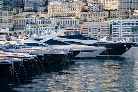 luxery: Luxery yachts in the Monte Carlo harbour, Monaco, France
