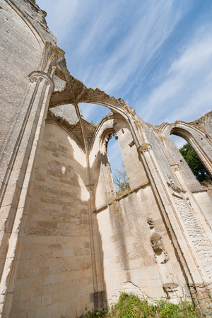 the loire: Old church and abbey ruins in the Loire Valley, France, Les Roches tranchelion