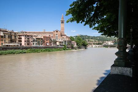 Campanile Sant Anastasia, Verona. Historic center.