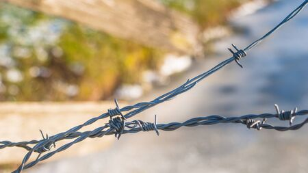 razor wire: Iron wire with incentives to protect grassland deposition