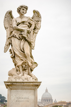 sudarium: One of Bernini Angels on the ponte SantAngelo in Rome, Italy,