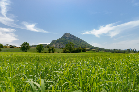 uninhabited: The mass of the Vercors is perhaps one of the most pure places in France. The mountain plateau southwest of Grenoble is partially uninhabited and you can enjoy vast vistas. The climate has great extremes: in the summer, sunny, dry and warm, in winter the  Stock Photo