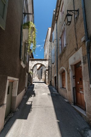 characteristic: Medieval architecture in southern european style. Characteristic style features of the provence and the cote dazur in the mountain village Die, near Valence in France
