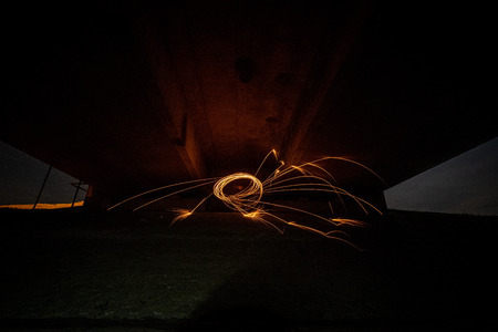 Steel wool photography, spectacular and cool photography with burning steel wool