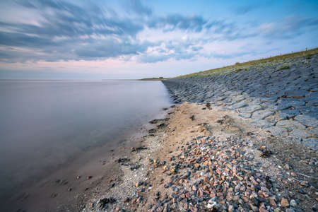 The dyke that protects Holland against the Waddenzee
