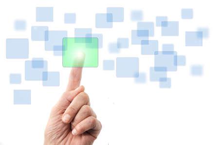 button - interface - selecting Stock Photo