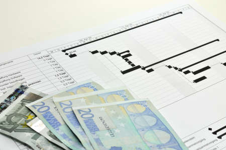 project costs - project - budget Standard-Bild