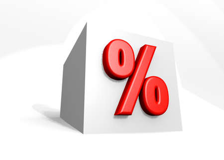 Würfel - Prozent - Rabatt Standard-Bild
