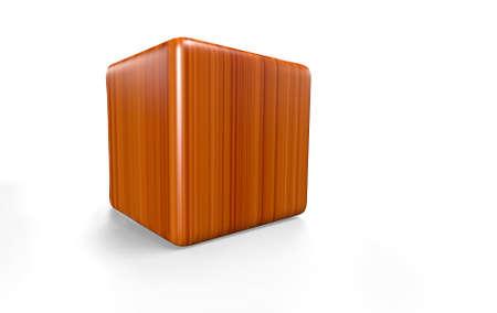 Holzwürfel - abgerundet  3D  Stock Photo