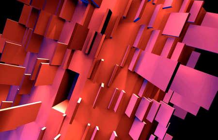 lila: 3D Objekt - Komplexität - Bewegung - Module