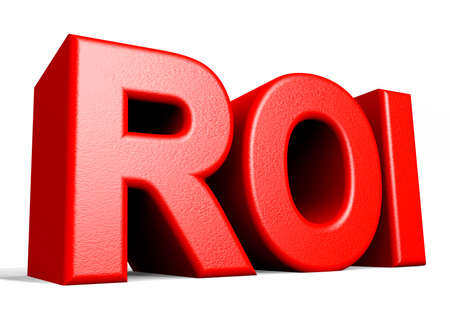 rot: ROI - Return On Investment Stock Photo