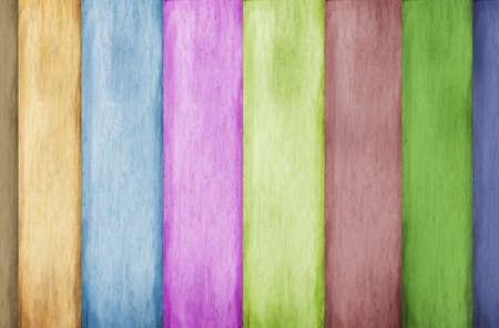 farbe: Bunte Holzlatten