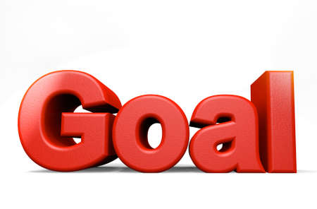 zahlen: Goal Stock Photo
