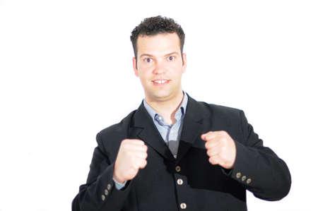 Junger Mann Erfolg - Motivation - Entschlossenheit Standard-Bild - 13703083