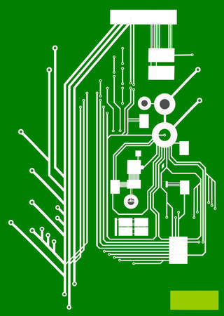 Elektronikplatine - Leiterbahnen Standard-Bild