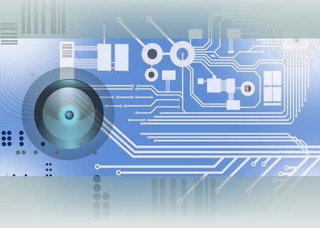 Technologie - Elektronik - Hintergrund