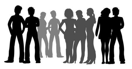 Gruppen junger Leute