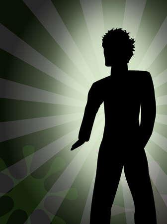 Silhouette - Junger Mann - Party - Disco Standard-Bild