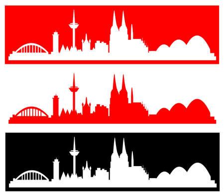 Köln - verschiedene Silhouetten Stock Photo
