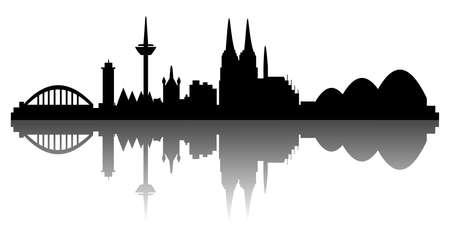 Köln - Silhouette Standard-Bild