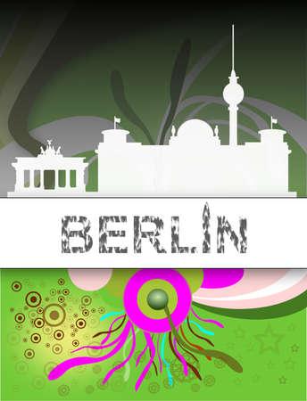 Berlin, Karte - Poster Standard-Bild