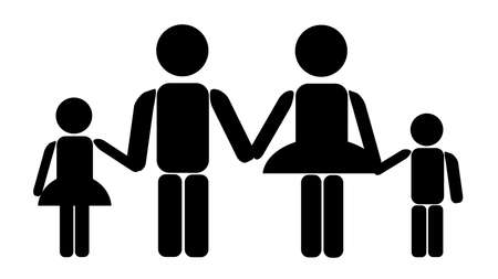 Familie Standard-Bild