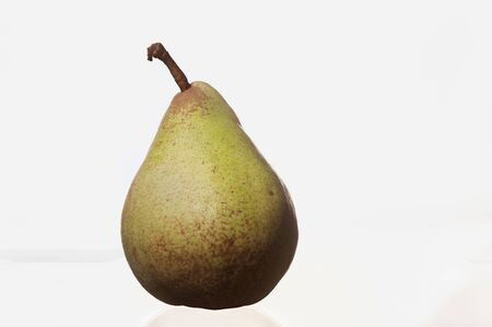 pear standing on a white background