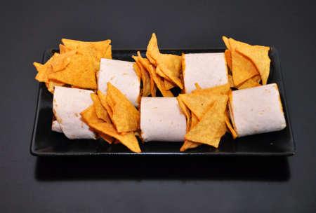 corn chip: Burrito and nachos
