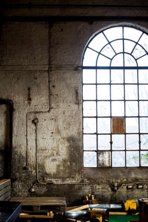 Concrete interior in abandoned building 免版税图像