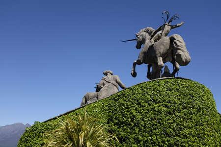 Unicorn statue in the gardens of Isola Bella,Stresa,Lake Maggiore.