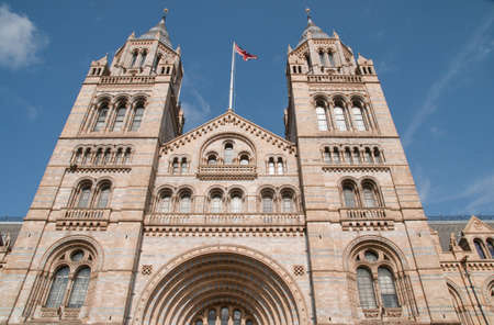 Facade of The Natural History Museum, Exhibition Road, South Kensington, London, England, UK