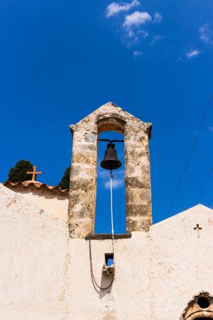 Old beige christian byzantine orthodox monastery church Stock Photo