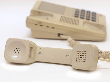old telephone on white background Stock Photo - 7990280