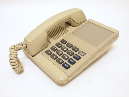 old telephone with white background Stock Photo - 7990282